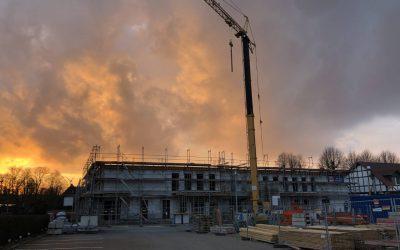 The second false ceiling is being built! (March 2020)Die zweite Zwischendecke wird gezogen! (März 2020)